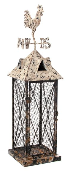 "Beautifully Distressed  & Detailed 31"" Birdhouse"