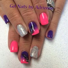 Light Elegance. Neon Pink Paint. Neon Purple Paint. Disco glitter gel.