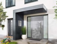 Eingangsüberdachung Vordach für Haustüren von Siebau
