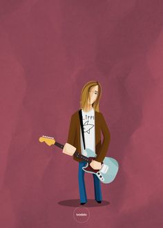 Kurt #kurt #cobain #nirvana #illustration #ivodelo
