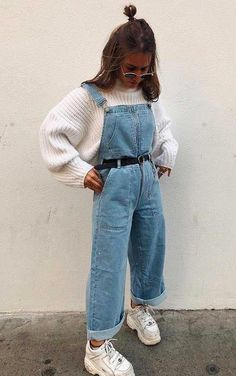 Indie Outfits, Cute Casual Outfits, Winter Fashion Outfits, Retro Outfits, Stylish Outfits, Fall Outfits, Cute Overall Outfits, Indie Fashion Winter, 80s Inspired Outfits
