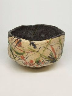 Oribe-Chawan by Goro Suzuki presented by Frank Lloyd Gallery Ceramic Bowls, Ceramic Pottery, Ceramic Art, Slab Pottery, Pottery Wheel, Japanese Ceramics, Japanese Pottery, Clay Bowl, Japanese Tea Ceremony
