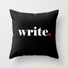 Writer Pillow Cover Write Pillow Author by PeppermintCreekPrint