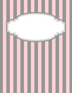 Free printable pink and gray striped binder cover template. Download the cover in JPG or PDF format at http://bindercovers.net/download/pink-and-gray-striped-binder-cover/