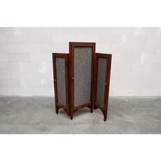 wooden and fabric room divider - Furniture