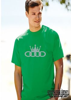 Audi, Audi king, Audi Car tshirt, Audi Shirt, Car top, German car, King, Kings crown, crown shirt, audi crown, automotive shirt, car t shirt by SouthernRebelClothin on Etsy