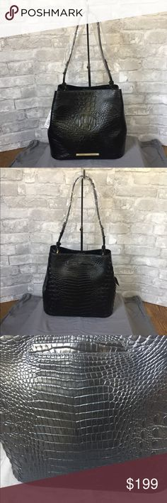Brahmin Black Camden Bucket Bag NWT Beautiful black Bucket bag- not Melbourne so not quite as glossy, more of a matte finish.  Dust cover included Brahmin Bags Shoulder Bags