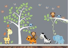 monkey wall art for little boys | ... boys room wall decor, nursery room decor, baby room wall decor | Bebe