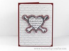 Pirate Theme Red Valentines Card,Handmade, Happy Valentines Day by ButterflyCrafts for $3.50
