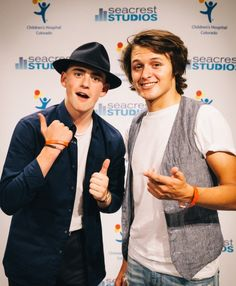 Charlie Rowe and Nolan Sotillo at Seacrest Studios in Denver for Red Band Society