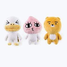 Kakao Friends Official Goods 3P Mini Plush Doll Set Ryan Apeach Tube GKKF0540 #KakaoFriends
