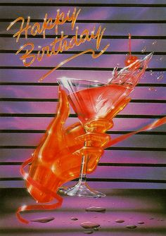 The most Birthday card of all time. Retro Art, Vintage Art, 1980s Art, Arte Obscura, 80s Aesthetic, Retro Futuristic, Airbrush Art, Wall Collage, Kristina Webb