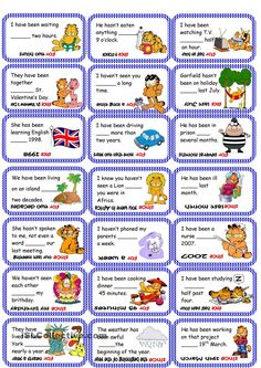 Cards For-since. ESL worksheet of the day by Lili27. March 10, 2015