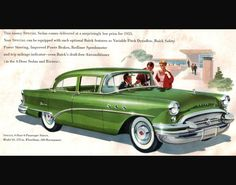 1955 buick | 1955 Buick Special Automobile Advertising Poster 11 x 14