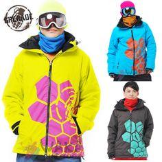 9fcd8c8b07 Waka Outdoor Grenade Men Snowboard Jacket Winter Ski Suit Men Honeycomb  Pattern Jackets for Men Skiing and Snowboarding