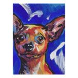 Red Min Pin Miniature Pinshcer Dog Bright Pop Art Poster