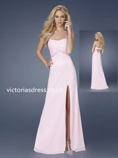 A-line Sweetheart Sleeveless Chiffon Prom Dresses/Evening Gowns With Beaded