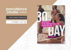 Fitness Bold Ebook Template by Providence Studio on @creativemarket