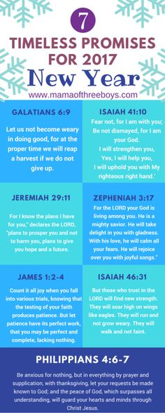 timeless promises and verses new year