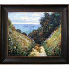 Claude Monet 'Path at La Cavee Pourville 1882 ' Hand Painted Framed Art