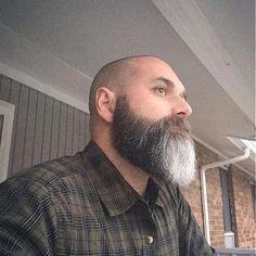 The Beard & The Beautiful Bald With Beard, Beard Love, Men Beard, Grey Beards, Long Beards, Beard Colour, Beard Haircut, Short Beard, Epic Beard
