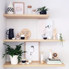 Secrets of an interior stylist help shelves look decorative rather than cluttered.