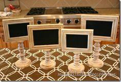 DIY Chalkboard Pedestal Frames....vertical or horizontal