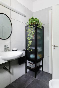 Decor, Furniture, Single Vanity, Vanity, Home Decor, Bathroom Mirror, Bathroom Vanity, Round Mirror Bathroom, Mirror