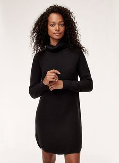 5c2ffd956e This sweaterdress is made from extra-fine Italian merino wool. A textural  waffle knit