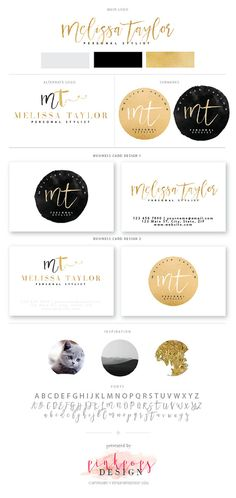 Premium branding kit / pre made Logo / sub mark by PinkPopsDesign Branding Kit, Business Branding, Brand Identity, Logos Cards, Architectural Prints, Brand Book, Beautiful Fonts, Art Mural, Brand Packaging