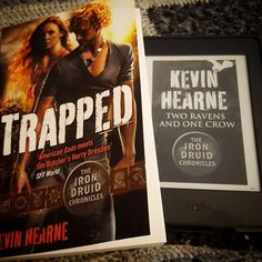 Binge-reading The Iron druide chronicles  #kevinhearne #theirondruidechronicles #atticusosullivan #reading ##readgoodbooks #books #bookstagram #bookishgirl #booklover #trapped #tworavensandonecrow
