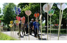 People take part in the planting of a heart garden during the closing ceremony of the Truth and Reconciliation Commission, at Rideau Hall in Ottawa on Wednesday, June 3, 2015. A heart garden will pop up in Edmonton this summer.