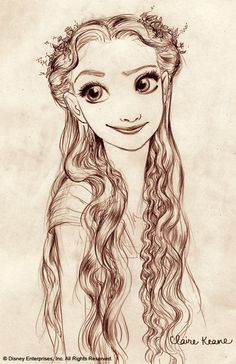 claire keane concept art for tangled. pretty right?