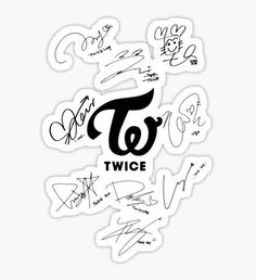 Twice Dahyun Kpop Stickers Logo Twice, Blackpink Twice, Twice Dahyun, Tzuyu Twice, Logo Sticker, Sticker Design, Nayeon, Twice Wallpaper, Kpop Logos