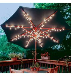 Clear Patio Umbrella Lights 8ct   Party City