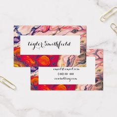 modern marble paint swirl rustic business card - rustic gifts ideas customize personalize