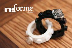 lego Wedding Ring Combo, Single Wide. $14.50, via Etsy.