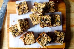 Chocolate chunk granola bars  These are delicious. Be generous with the binding ingredients (sunflower butter and coconut oil) and store/eat cold -- they'll still be crumbly.