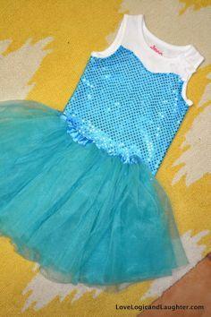 Queen Elsa Tank Top Tutorial - Princess Play Clothes - A Super Simple Lightweight and Comfortable Queen Elsa Tank Top - Sewing DIY
