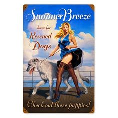 Summer Breeze Vintage Metal Sign