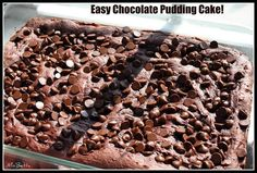 Chocolate Pudding Dump Cake is a simple but delicious dessert that comes together with cake & pudding mix, milk & chocolate chips! A crowd pleaser for sure!