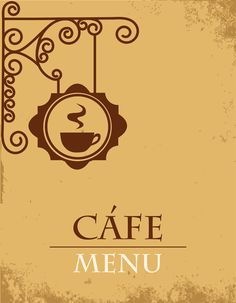 Vector of Vintage cafe menu background art 01