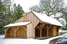 Ideas for the barn/shed... add lean to and close one end for tac room