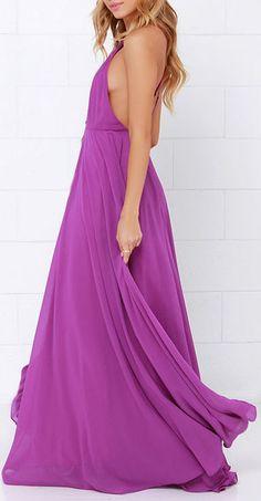 Mythical Kind of Love Purple Maxi Dress