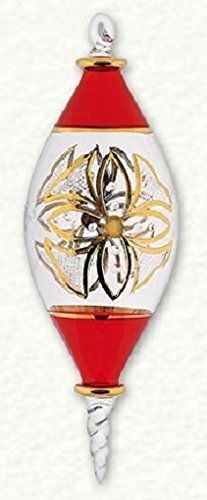 Amazon.com: Red and Gold Etched Marquis Egyptian Glass Christmas Ornament…
