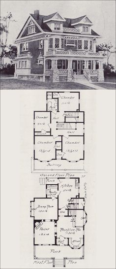 Classical Revival House Plan - Seattle Vintage Houses - 1908 Western Home Builder - Design No. 75 - V.W. Voorhees