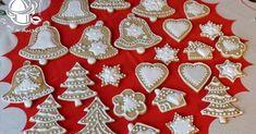 CIASTECZKA KRUCHE NA CHOINKĘ- ZDOBIONE LUKREM Gra, Christmas Tree, Baking, Holiday Decor, Food, Patterns, Xmas, Ideas, Decorated Cookies