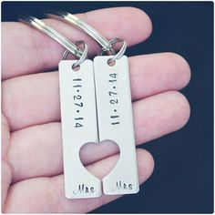 Romantic lesbian wedding ideas - Wedding Date Keychains