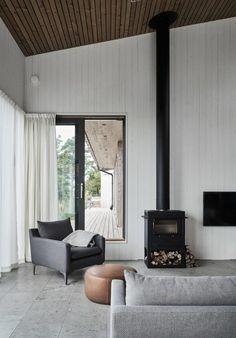 Villa Living Room Interior by M.Arkitetektur, Gotland – Design. / Visual.
