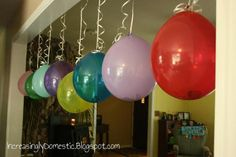 Tons of cute ways to give money as gifts. This one is for a birthday. 8 balloons with money in each. When the child pops her balloons the money 'rains' on her! Another idea is... Get an inexpensive umbrella from the dollar store and dangle bills from the inside so that when opened up – tada! A little something for a rainy day
